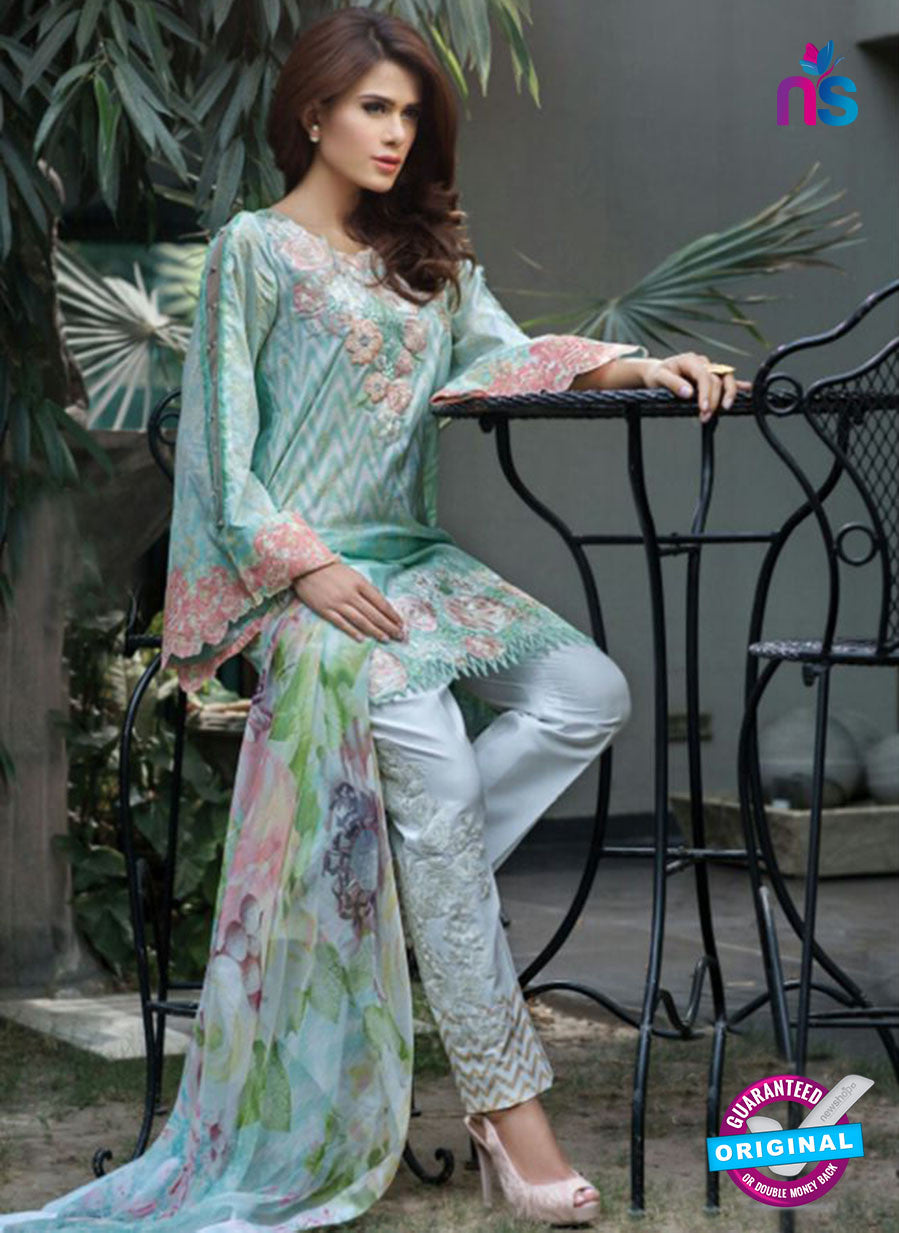 SC 13478 Multicolor and Sky Blue Printed Cambric Lawn Cotton Pakistani Suit