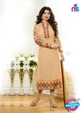 Zubeda 7003 Peach Brasso Embroidered Party Wear Suit