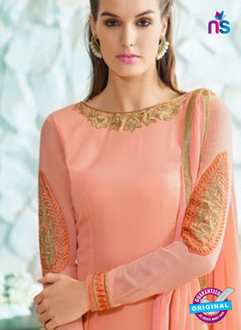 Nirvana 7004 Peach Georgette Party Wear Suit Online