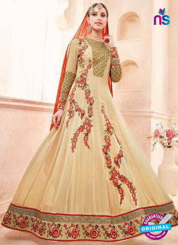 Moonlight 7004 Beige Anarkali Suit
