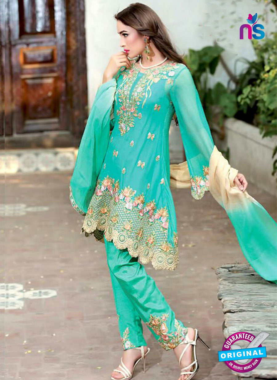 SC 13997 Sea Green Georgette Latest Exclusive Fancy Function Wear Pakistani Suit