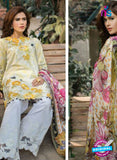SC 13473 Yellow and White Printed Cambric Lawn Cotton Pakistani Suit