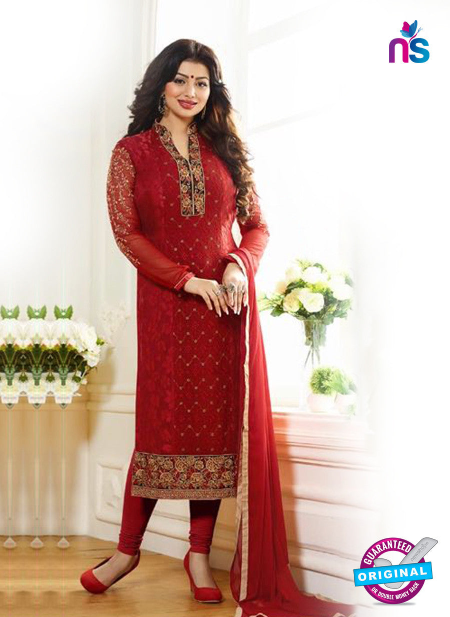 Zubeda 7004 Maroon Brasso Embroidered Party Wear Suit