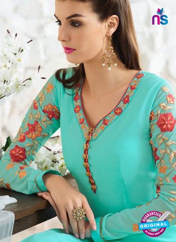 Nirvana 7005 Sea Green Georgette Party Wear Suit Online