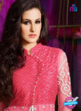 AZ 3406 Pink and Beige Silky Net Embroidered Function Wear Plazo Suit Online