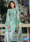 SC 13479 Sea Green and White Printed Cambric Lawn Cotton Pakistani Suit