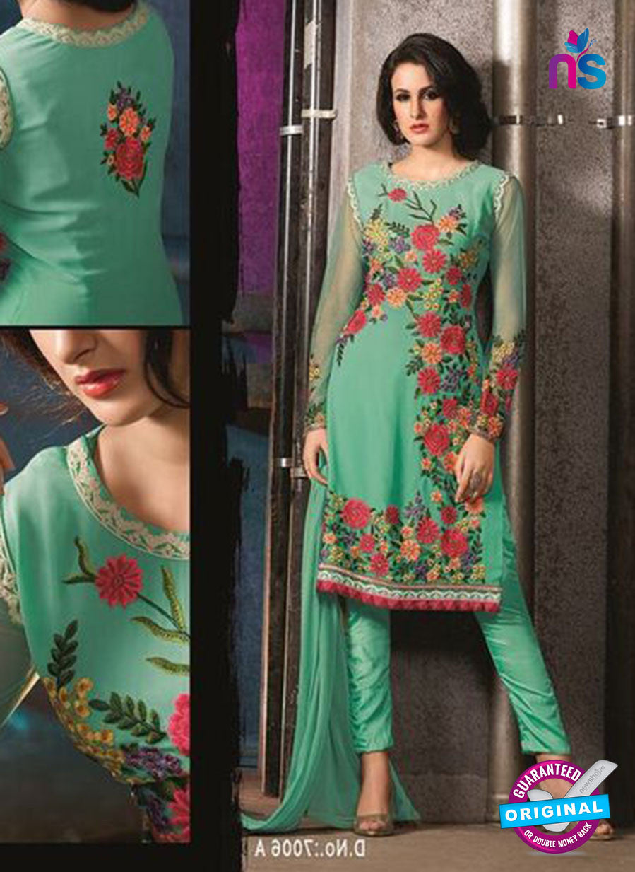 AZ 3408 Green Georgette Embroidered Function Wear Suit