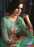 AZ 3408 Green Georgette Embroidered Function Wear Suit Online