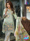 SC 13475 Green and Multicolor Printed Cambric Lawn Cotton Pakistani Suit
