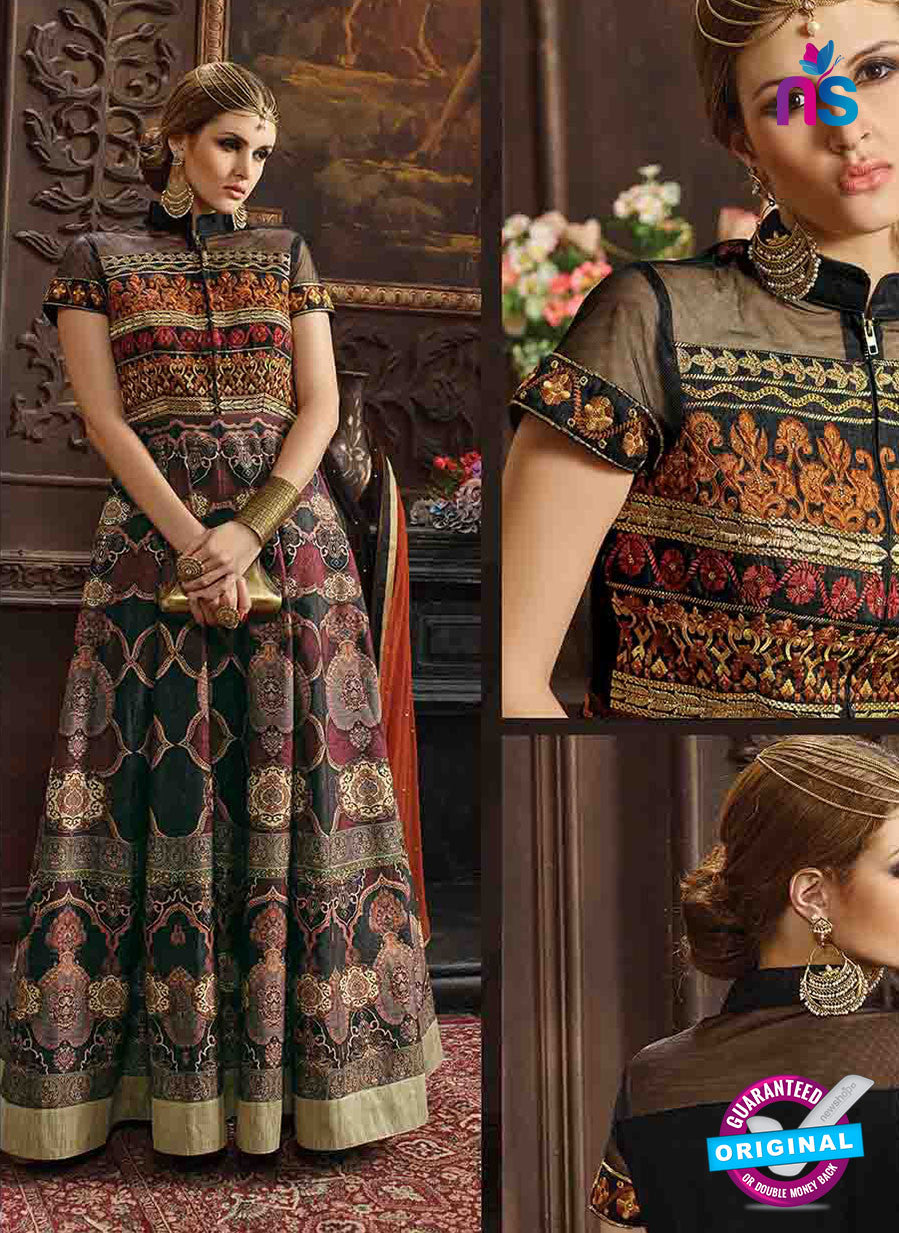 AZ 3319 Multicolor Banglori Silk Fancy Designer Gown