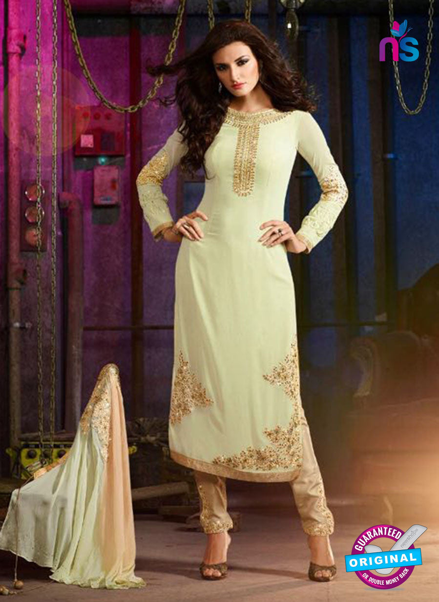 AZ 3410 Light Green Georgette Embroidered Function Wear Suit