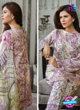 SC 13477 Purple and Multicolor Printed Cambric Lawn Cotton Pakistani Suit