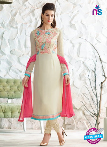 Nirvana 7007 Beige Georgette Party Wear Suit
