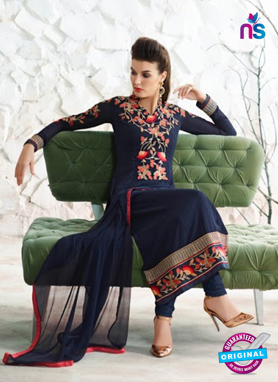 AZ 3985 Blue Georgette Party Wear Suit
