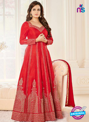 Aashirwad 7008 Red Anarkali Suit