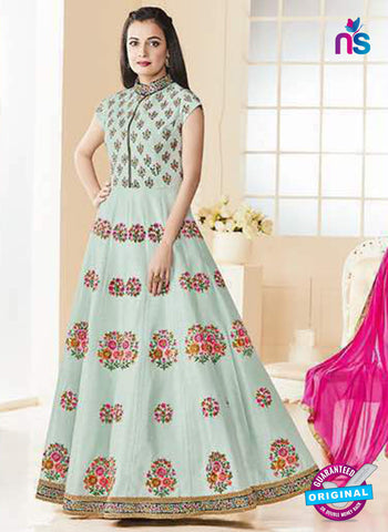Aashirwad 7013 Sky Blue Anarkali Suit
