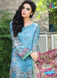 SC 13864 Sky Blue Glace Cotton Designer Fancy Exclusive Plazo Suit