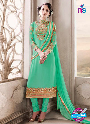 SC 14012 Green Georgette Exclusive Function Wear Designer Straight Chudidhar Suit