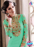 SC 14012 Green Georgette Exclusive Function Wear Designer Straight Chudidhar Suit Online