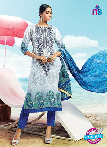 AZ 4069 Blue Cotton Plazo Suit