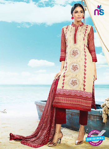 AZ 4072 Beige Cotton Plazo Suit