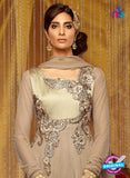 Kimora 703 Brown Soft Net Party Wear Anarkali Suit