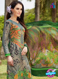 SC 13241 Multicolor and Orange Printed Pure Lawn Straight Pakistani Suit