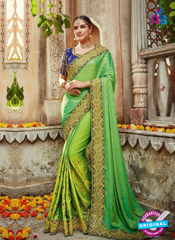 AZ 4096 Green Georgette Wedding Saree