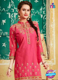 SC 12401 Pink and Beige Embroidered Pure Cotton Patiala Suit