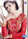 SC 14011 Red Georgette Exclusive Function Wear Designer Straight Chudidhar Suit