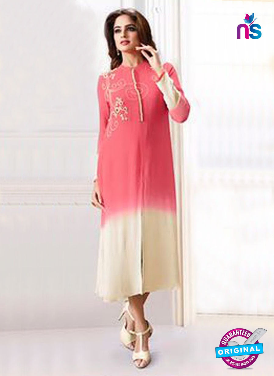 LT 706 Peach Georgette Party Wear Tunic