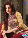 NS11228 SandyBrown and Maroon Pure Cotton Long Straight Suit