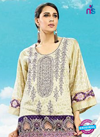 AZ 4080 Beige Cotton Plazo Suit