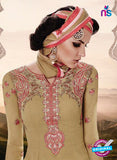 SC 14008 Beige Georgette Exclusive Function Wear Designer Straight Chudidhar Suit Online
