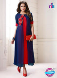 LT 707 Red and Blue Georgette Party Wear Tunic