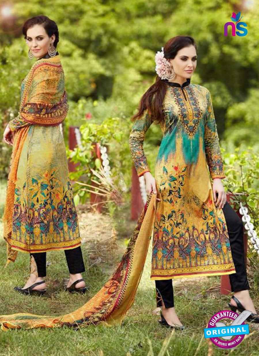 SC 13239 Brown and Black Printed Pure Lawn Straight Pakistani Suit