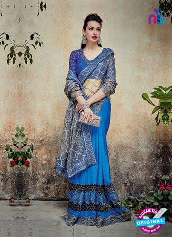 AZ 5000 Blue Georgette Wedding Saree