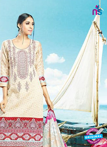 AZ 4079 Beige Cotton Plazo Suit