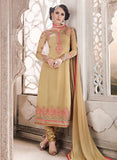 SC 14008 Beige Georgette Exclusive Function Wear Designer Straight Chudidhar Suit