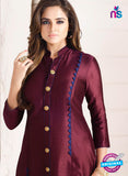 LT 707 Maroon Chanderi Party Wear Kurti Online