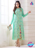 LT 709 Green Georgette Party Wear Tunic