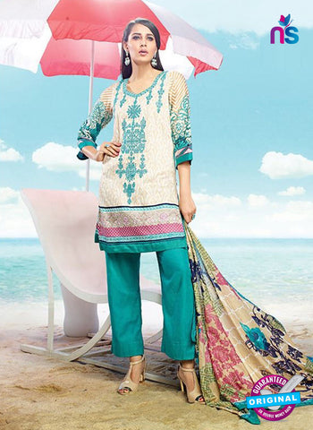 AZ 4084 Beige Cotton Plazo Suit