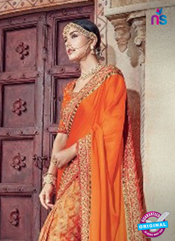 AZ 5003 Orange Net Wedding Saree