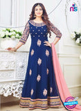 SC 12628 Blue and Pink Georgette Party Wear Gawn