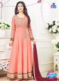 SC 12629 Peach and Maroon Georgette Party Wear Gawn