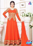 SC 12631 Orange and Golden Georgette Party Wear Gawn