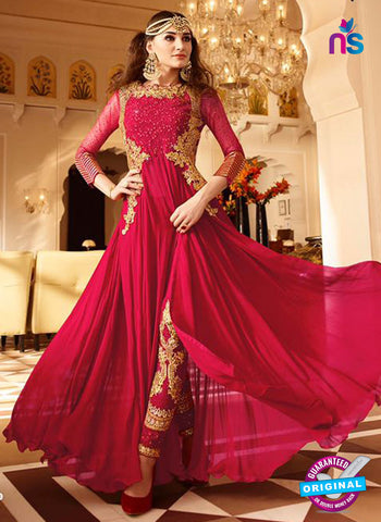 Glossy 7101 Red Georgette Party Wear Suit