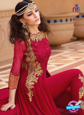 AZ 5108 Red Georgette Party Wear Suit