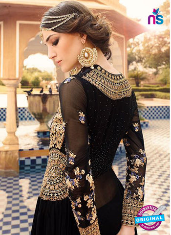 AZ 5111 Black Georgette Anarkali Suit