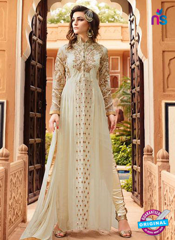 Glossy 7105 Beige Georgette Party Wear Suit